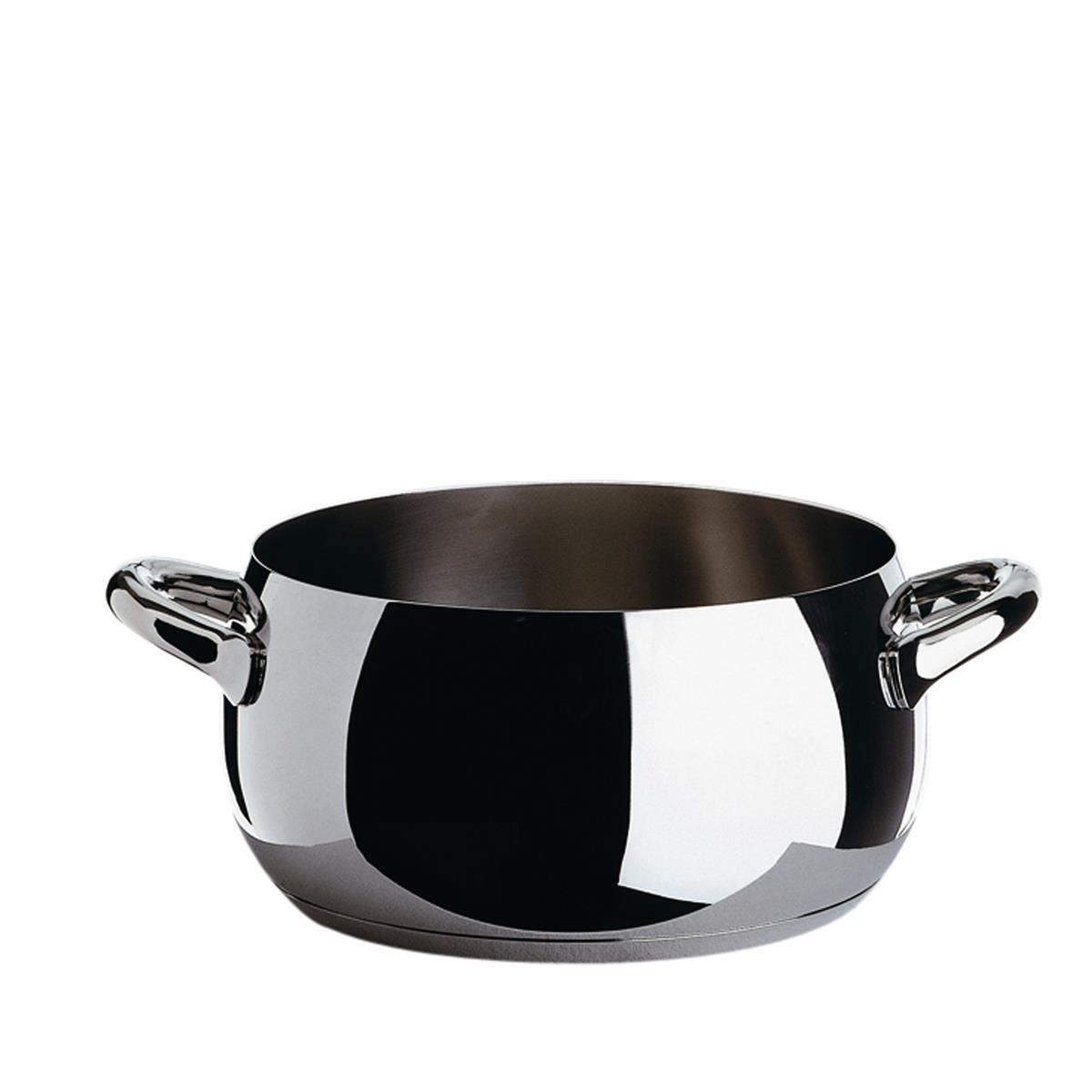 Alessi-Mami Casserole in 18/10 stainless steel also suitable for induction