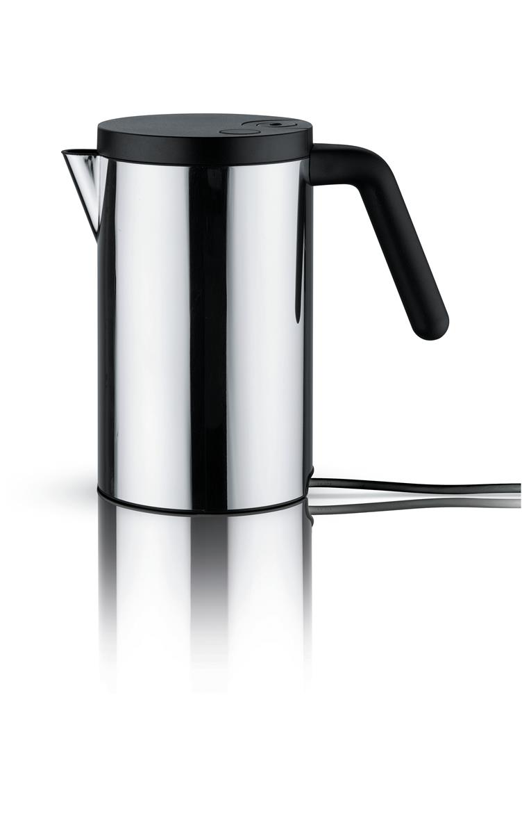 Alessi-hotit Electric kettle in black 18/10 stainless steel