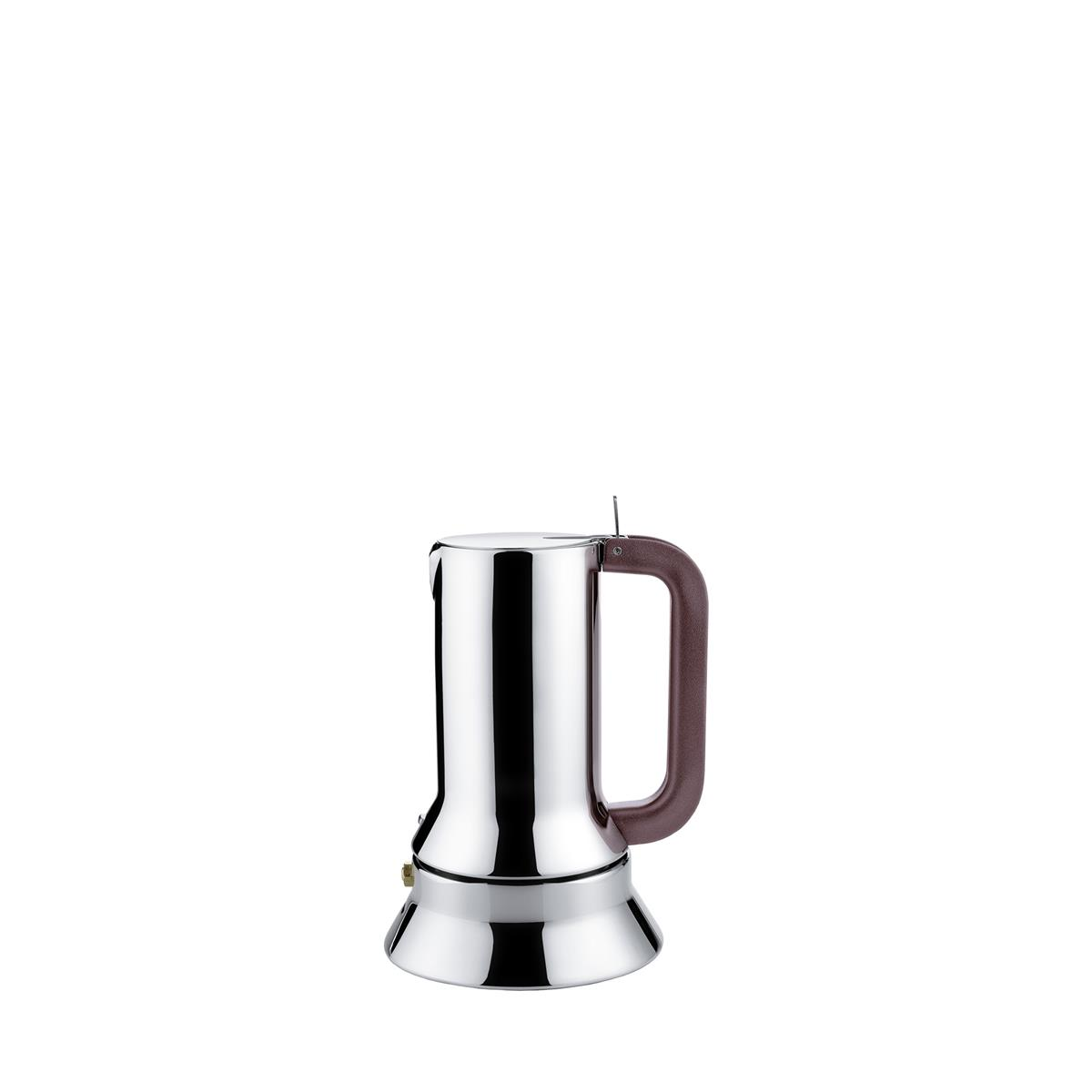 Alessi-Espresso coffee maker in 18/10 stainless steel suitable for induction 1 cup
