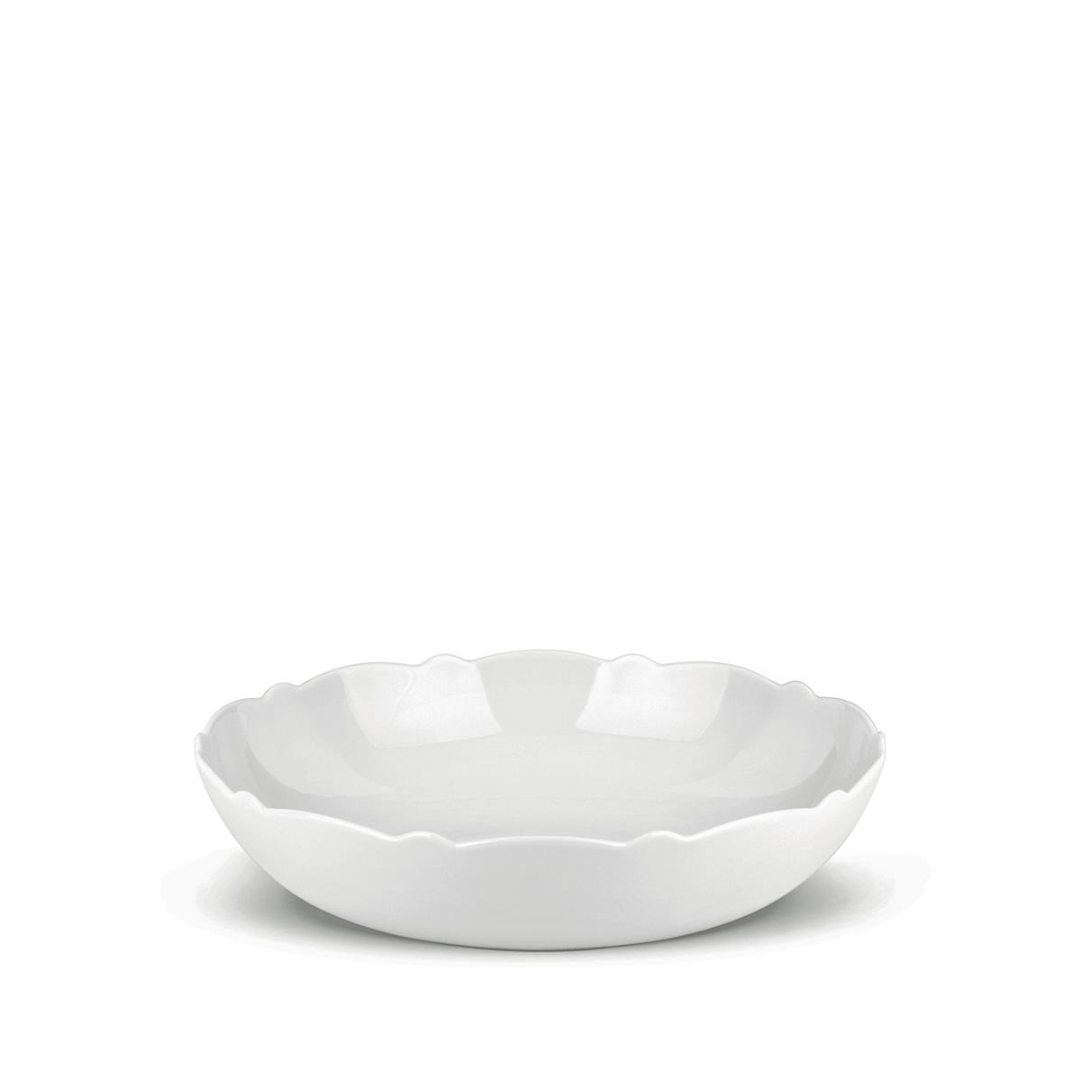 Alessi-Dressed Salad bowl in white porcelain with relief decoration