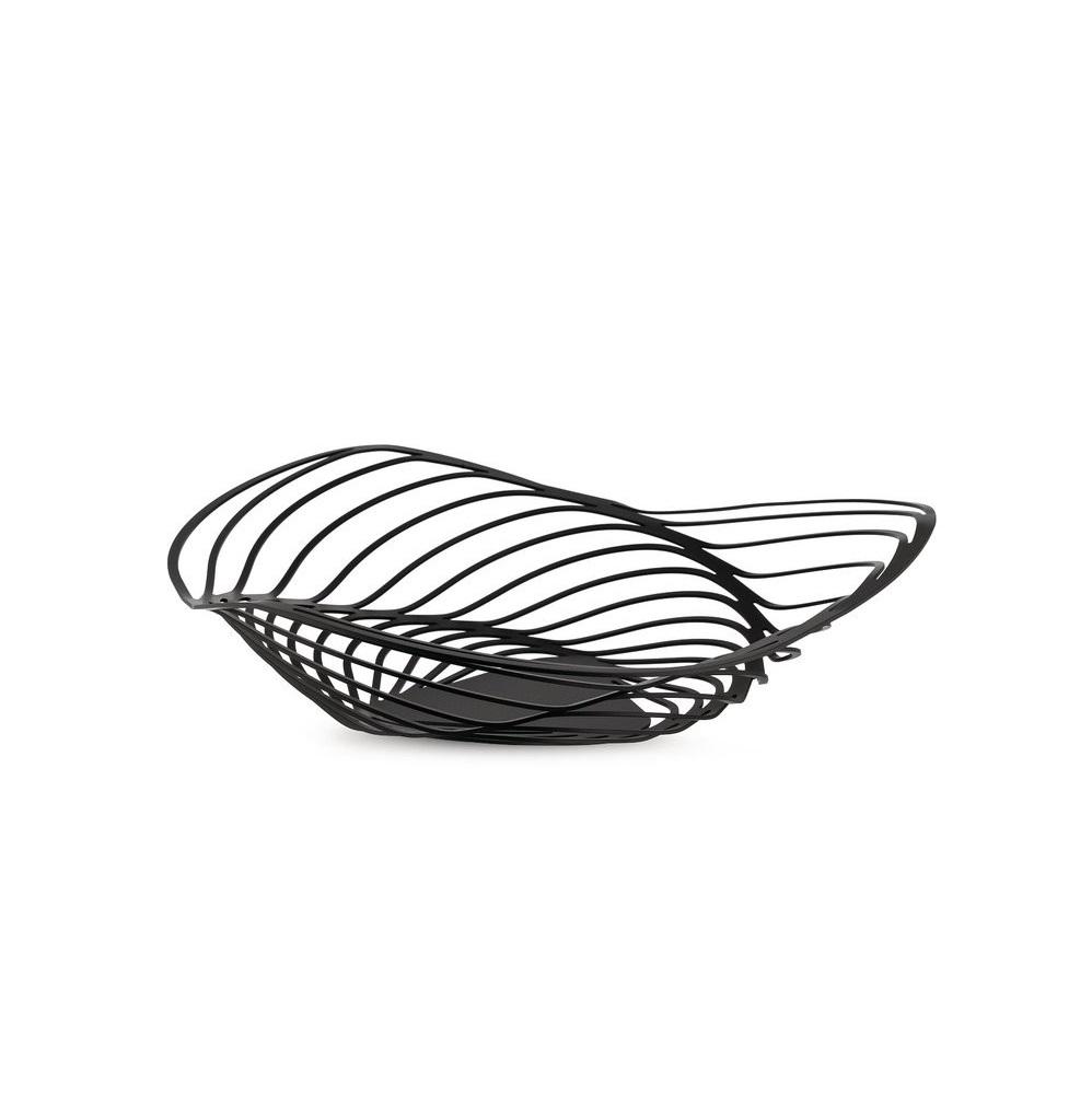 Alessi-Trinity Centrotavola in acciaio colorato con resina epossidica, nero