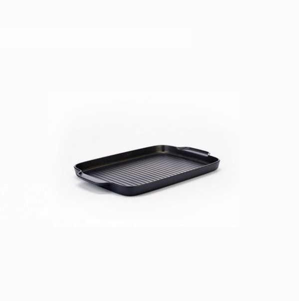 Alessi-Mami 30 Grill pan in non-stick aluminum, black suitable for induction