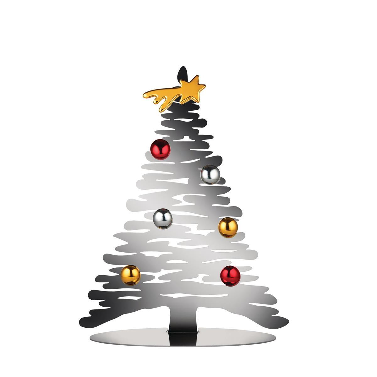 Alessi-Bark for Christmas Decorazione in acciaio con magneti in porcellana