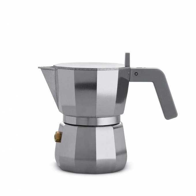 Alessi-Moka Coffee maker in cast aluminum suitable for induction 9 cups