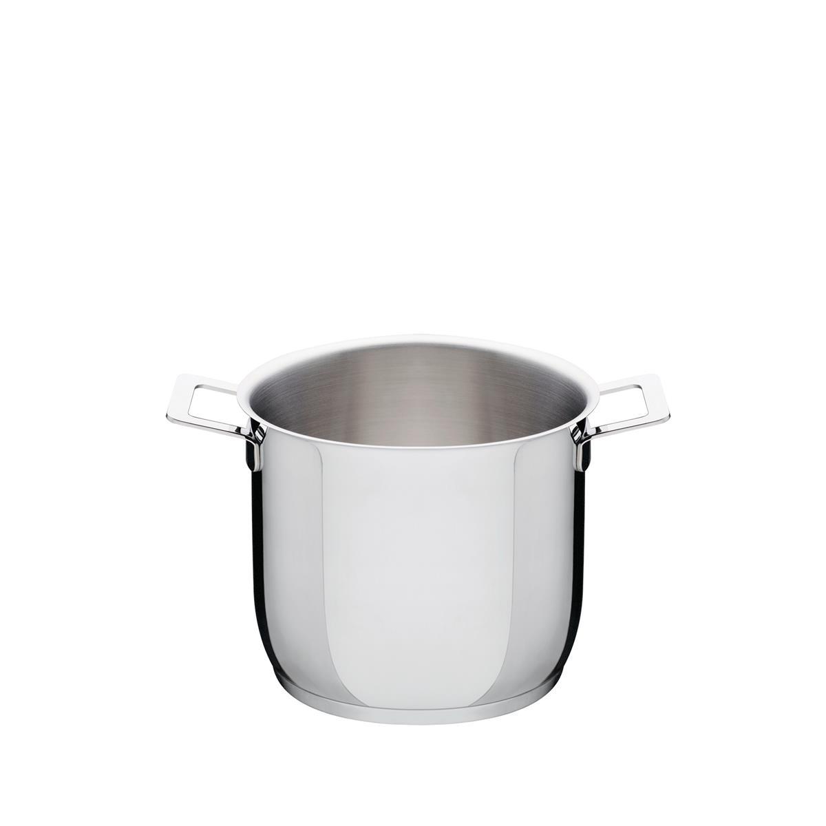 Alessi-Pots & Pans Pot aus poliertem Edelstahl 18/10, geeignet für die Induktion