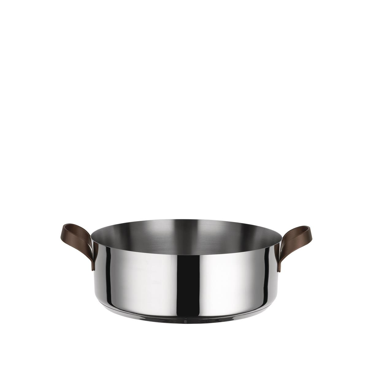 Alessi-edo Low casserole in 18/10 stainless steel suitable for induction
