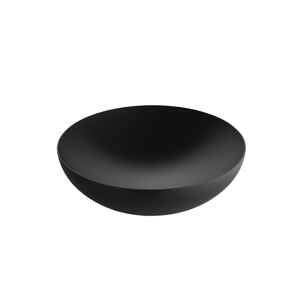 Alessi-Double Doppelwandige Schale aus farbigem Stahl und Harz, schwarz