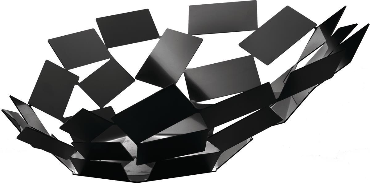 Alessi-La Stanza dello Scirocco Herzstück aus farbigem Stahl und Harz, schwarz