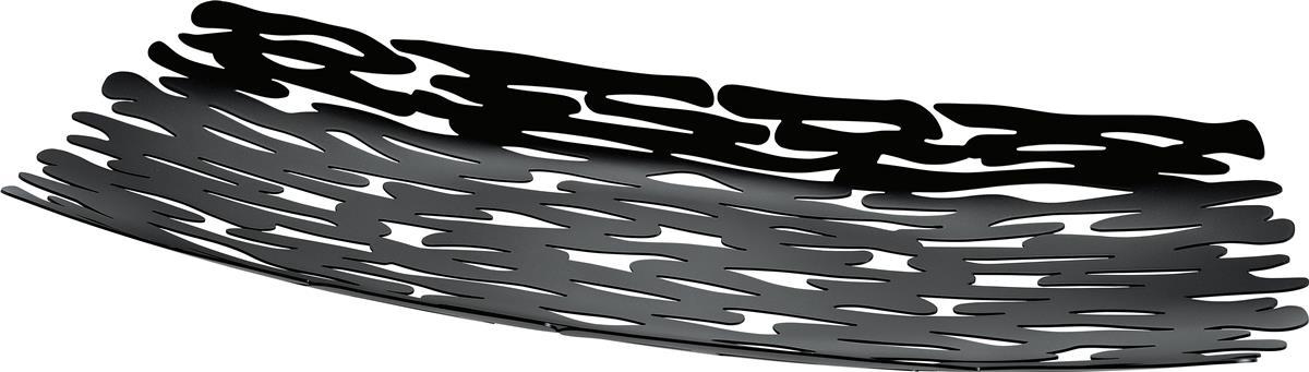 Alessi-Bark Herzstück aus Stahl mit Epoxidharz, schwarz