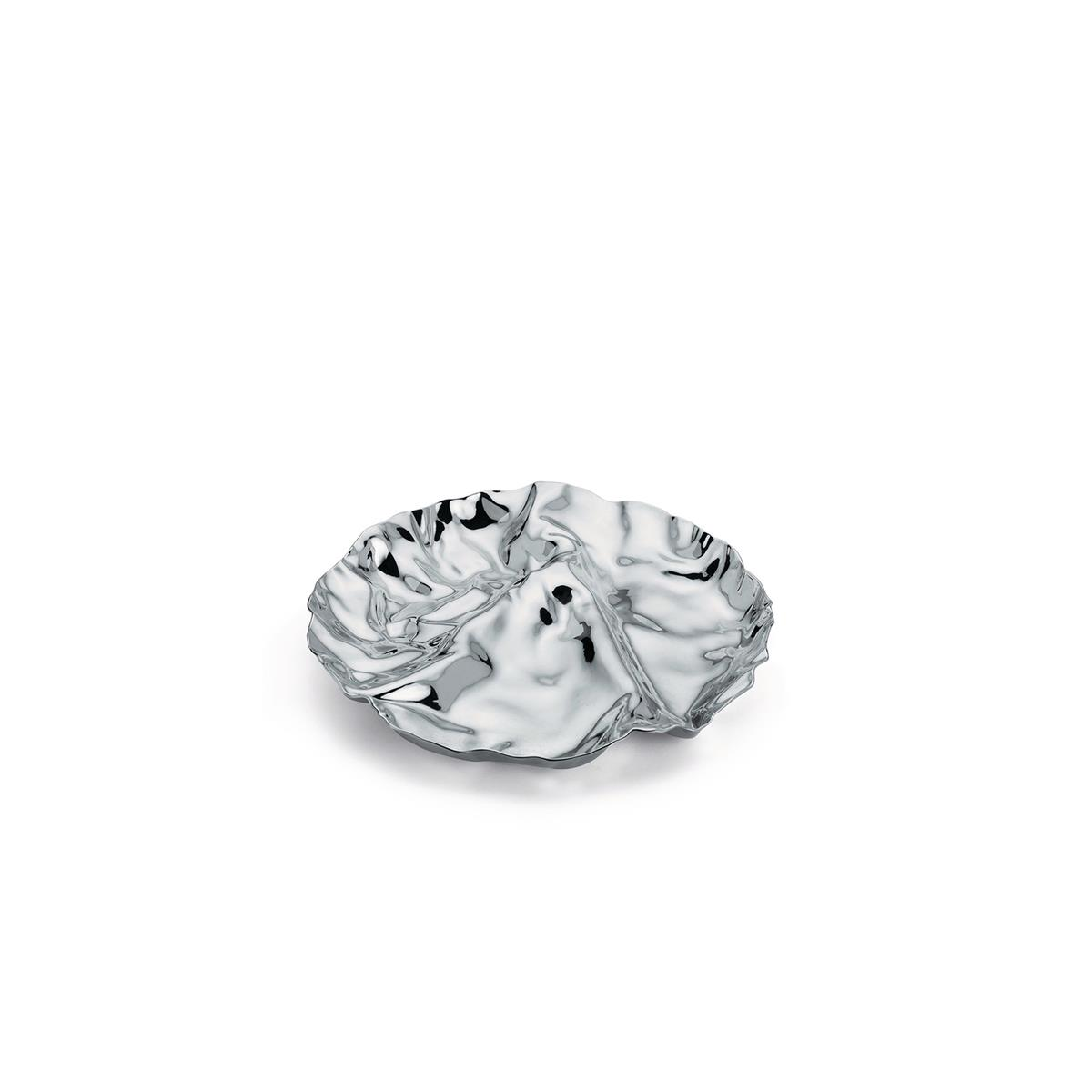 Alessi-Pepa Antipastiera a tre scomparti in acciaio inox 18/10 lucido