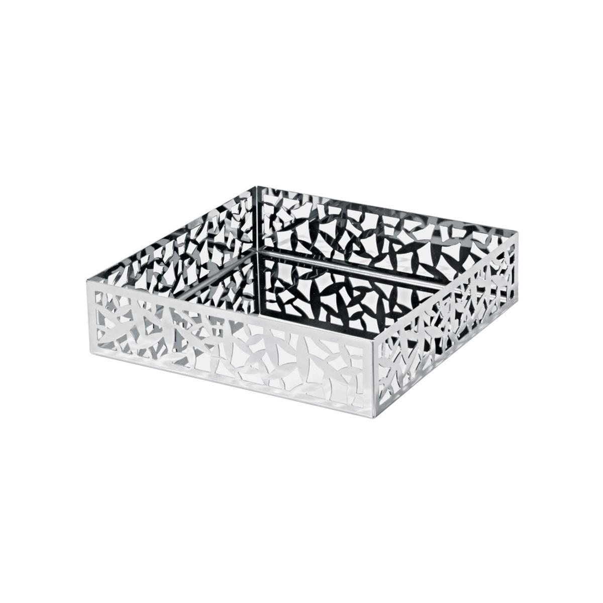 Alessi-Kaktus! Papierserviettenhalter mit perforierter Kante aus 18/10 Edelstahl
