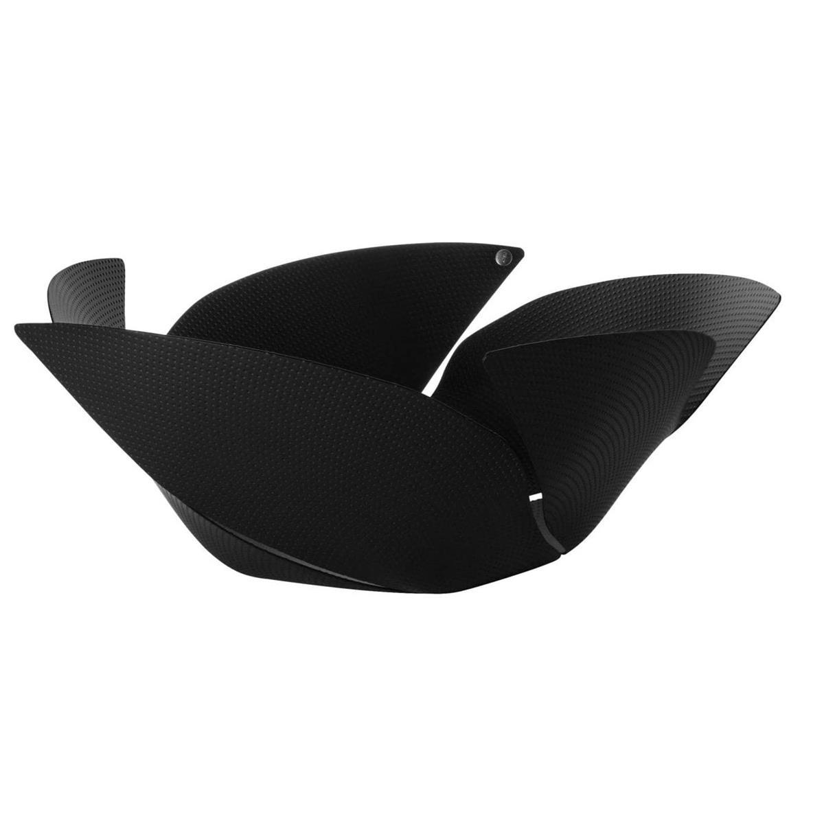 Alessi-Twist Again Obstschale aus Stahl mit Epoxidharz, schwarz