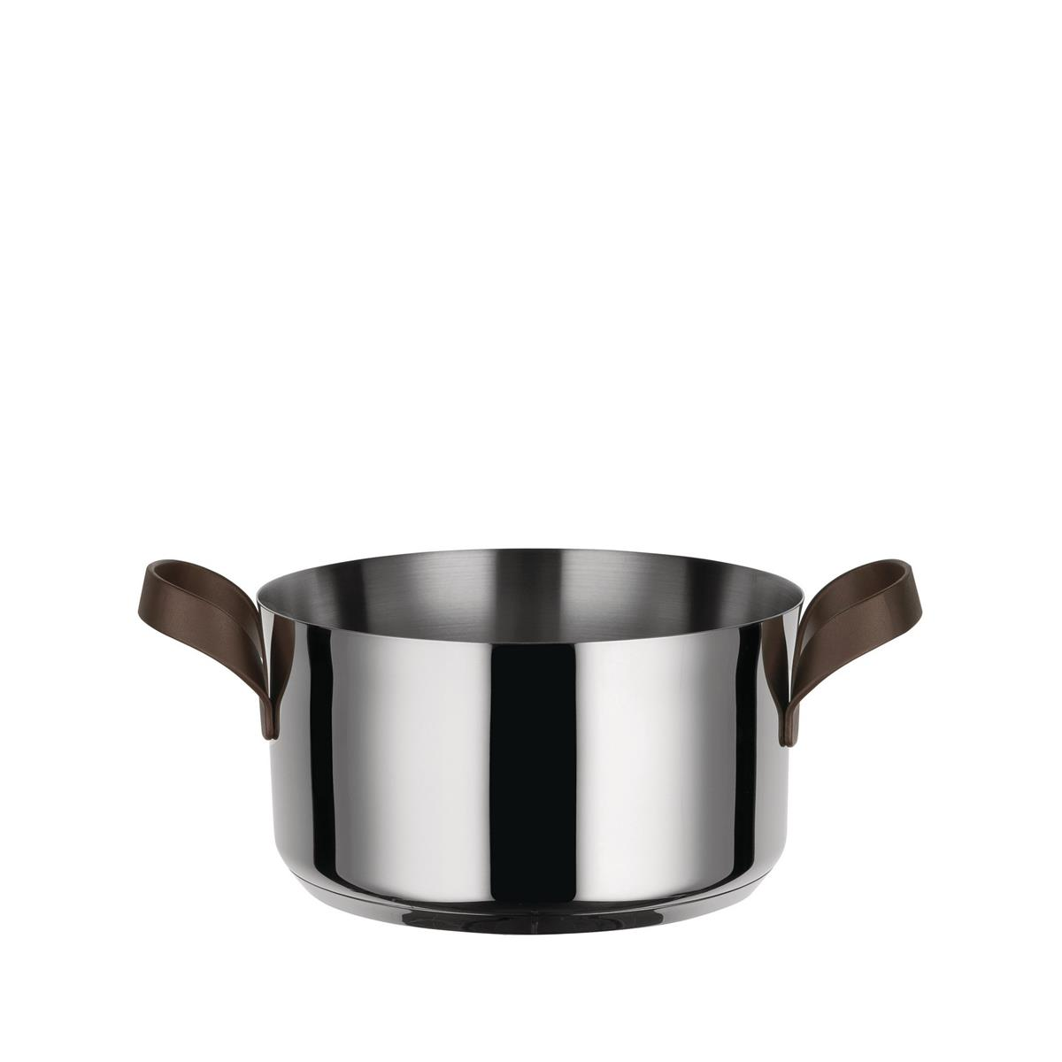 Alessi-edo Casserole with two handles in 18/10 stainless steel suitable for induction