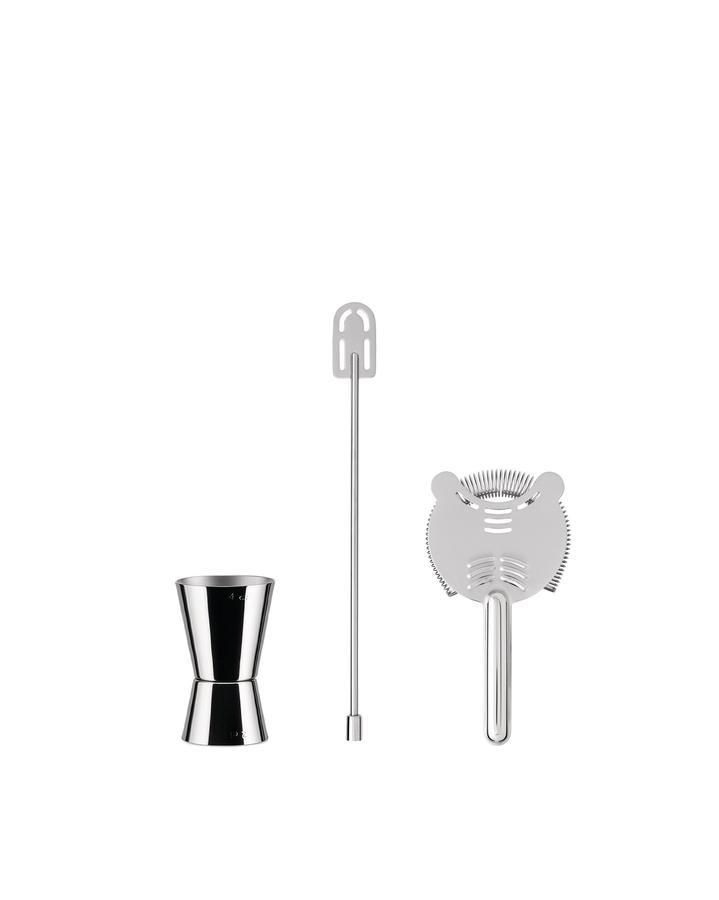 Alessi-Our Roots Set per cocktail in acciaio inox 18/10