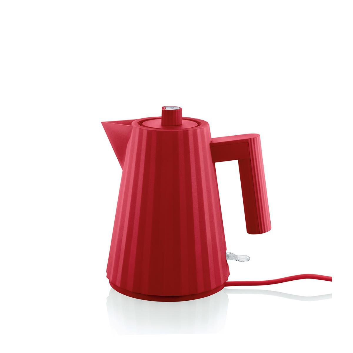 Alessi-Plissé Bollitore elettrico in resina termoplastica, rosso 2400W