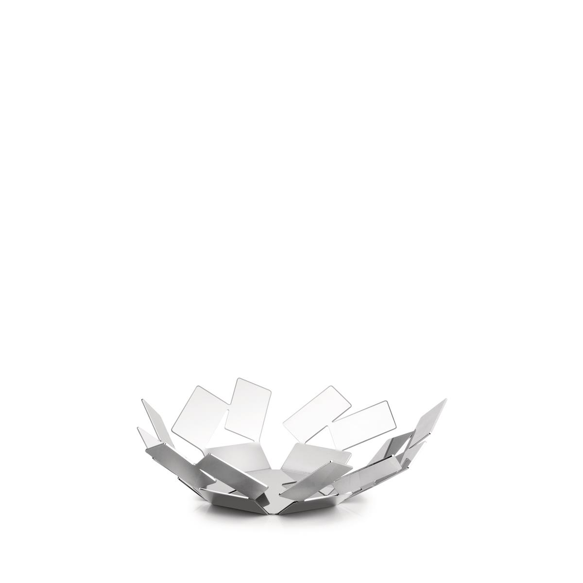 Alessi-CACTUS! Perforated fruit bowl in colored steel and resin, Super White-