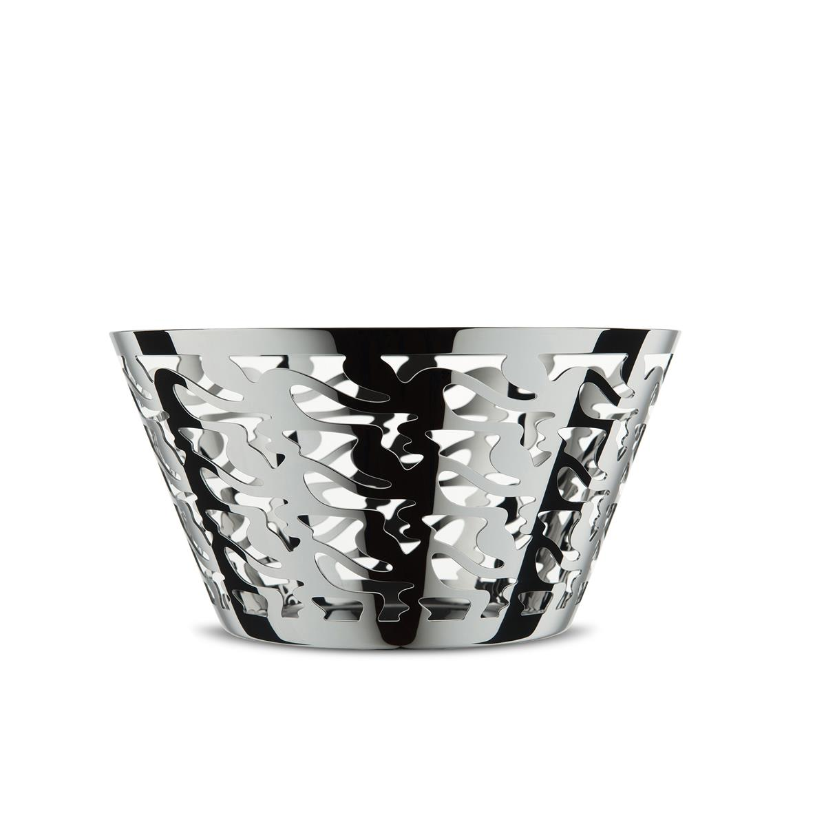 Alessi-Ethno Perforated fruit bowl in 18/10 stainless steel