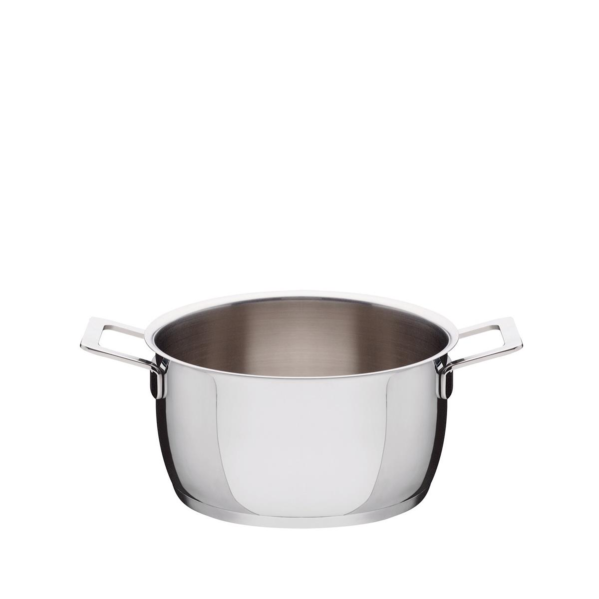 Alessi-Pots & Pans Casserole in 18/10 stainless steel suitable for induction