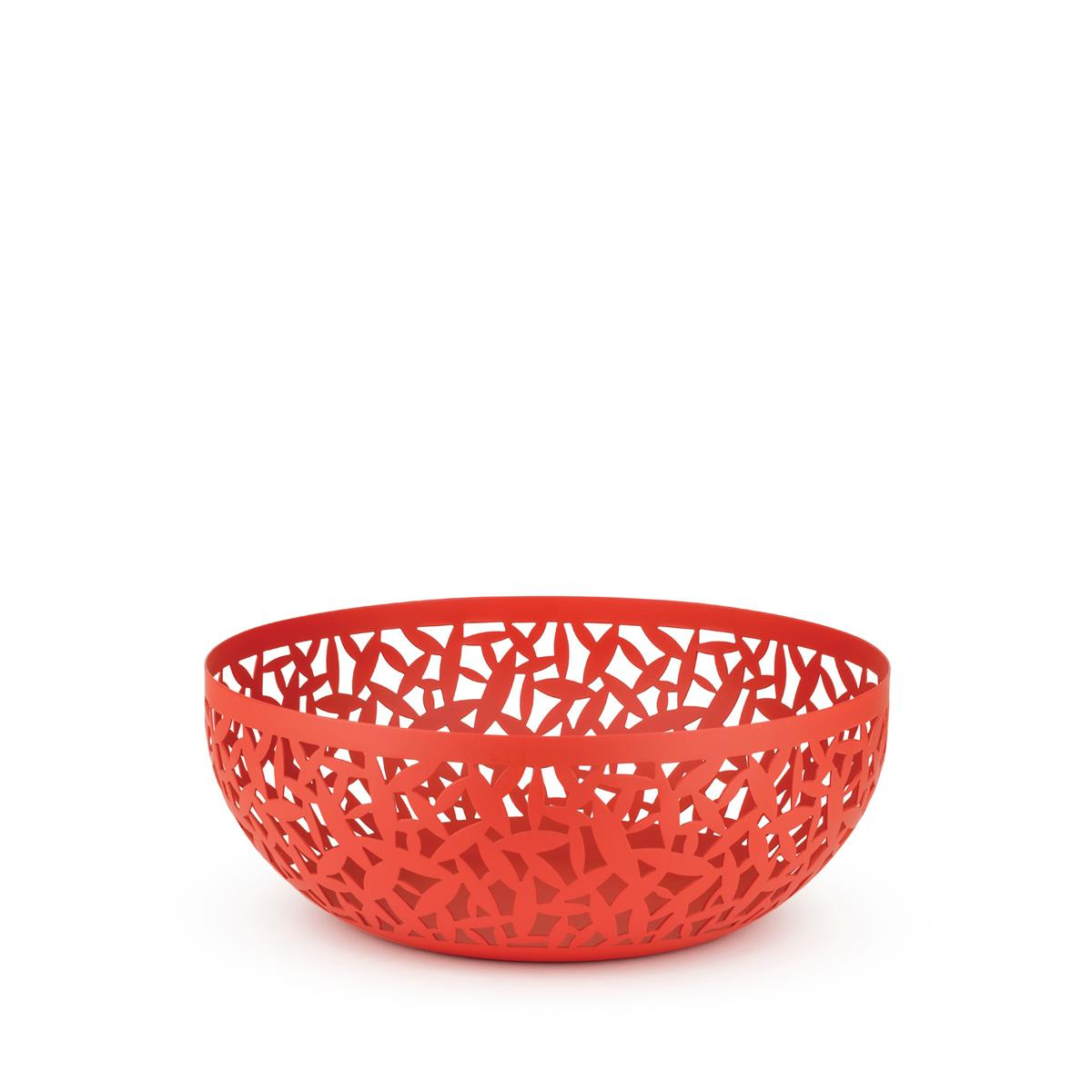 Alessi-CACTUS! Perforated fruit bowl in colored steel and resin, Super Red-