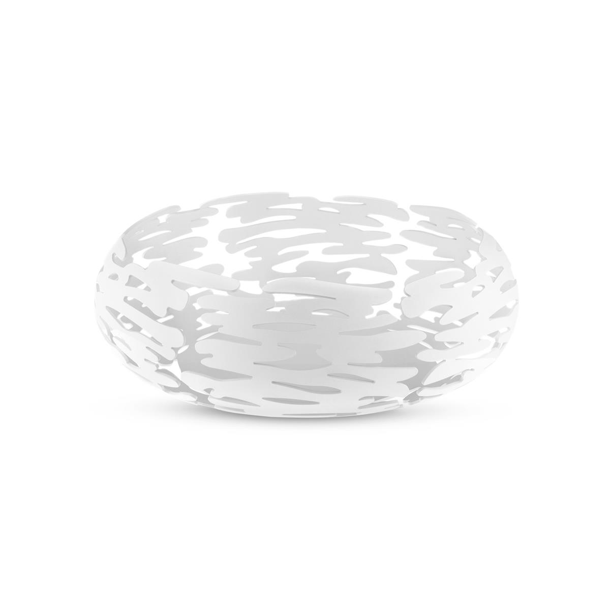 Alessi-Barknest Round basket in colored steel and resin, white