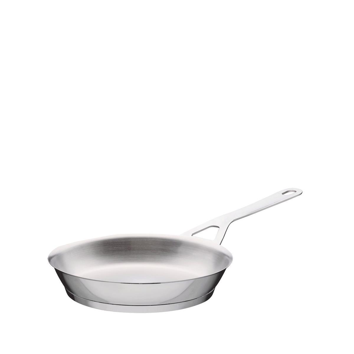 Alessi-Pots & Pans Bratpfanne aus poliertem Edelstahl 18/10, geeignet für die Induktion