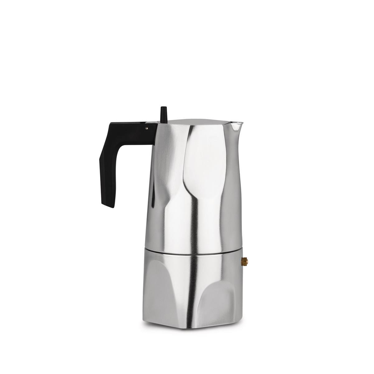Alessi-Ossidiana Caffettiera espresso in fusione di alluminio, 6 tazze