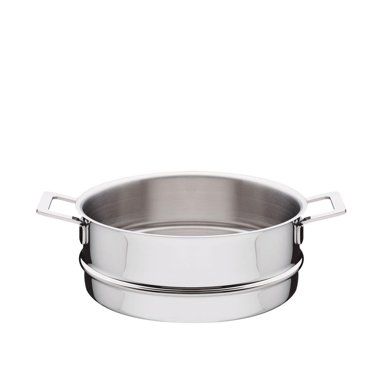 Alessi-Pots & Pans Steamer basket in 18/10 stainless steel mirror polished