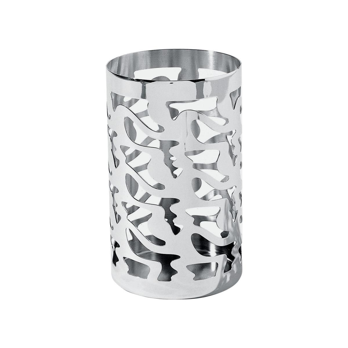 Alessi-Ethno Perforated breadstick holder in 18/10 stainless steel mirror polished