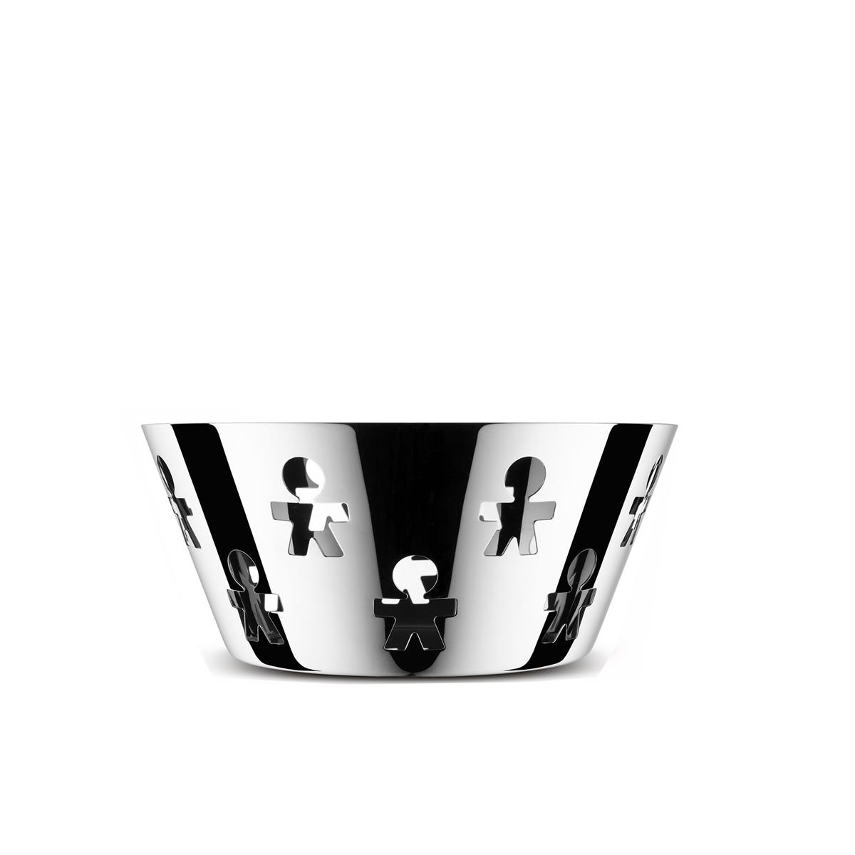 Alessi-Girotondo Perforated basket in 18/10 stainless steel