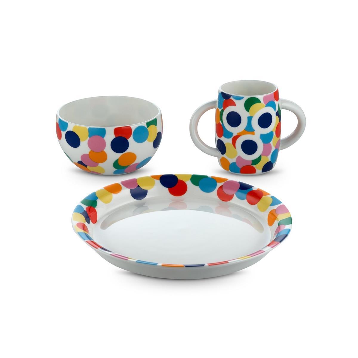 Alessi-Alessini-Proust Set da tavola per bambino in fine bone china