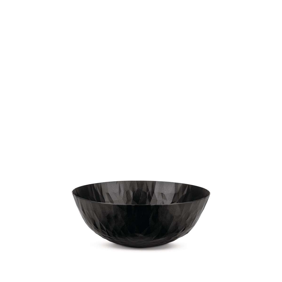 photo Alessi-Joy n11 Round basket in colored steel and resin, Super Black