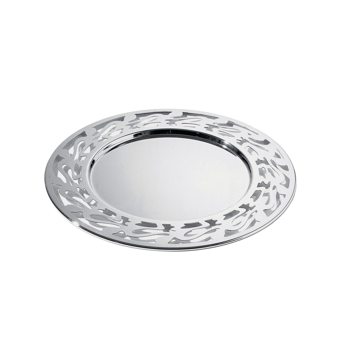 Alessi-Ethno Placemat with perforated edge in 18/10 stainless steel mirror polished