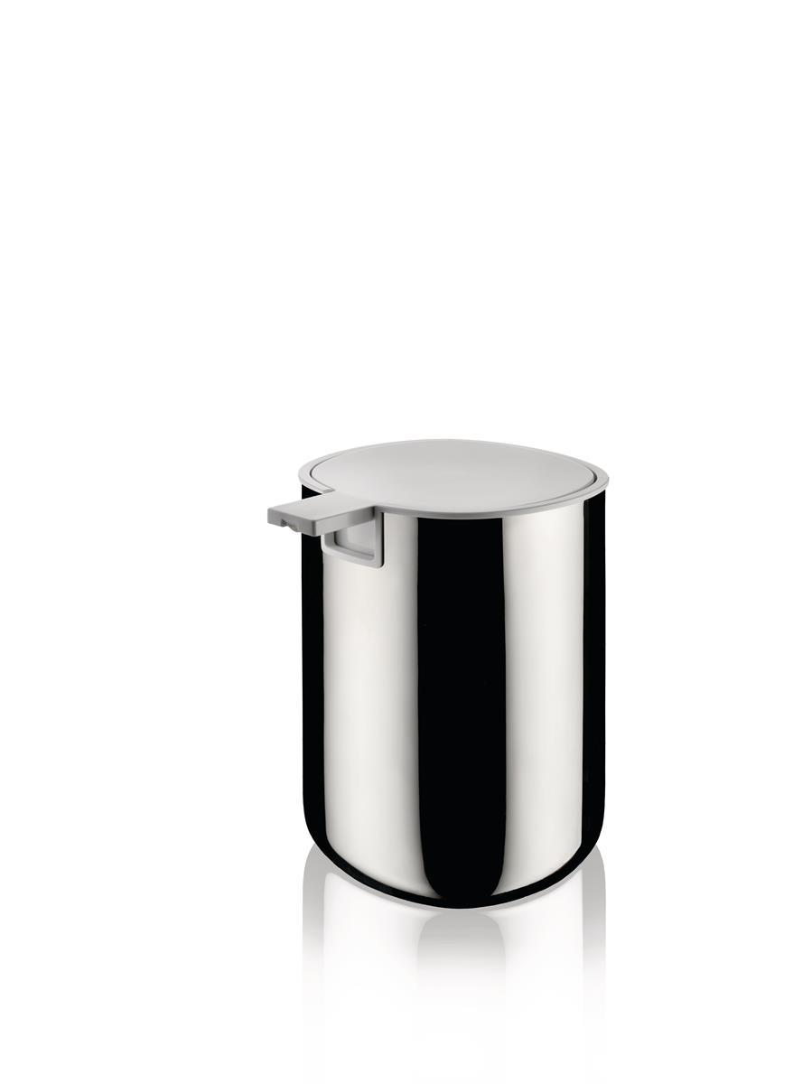 Alessi-Birillo Liquid soap dispenser in PMMA, white and 18/10 stainless steel