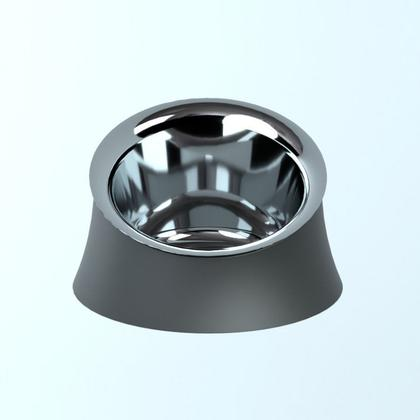 Alessi-Wowl Bowl for dogs in thermoplastic resin, black and 18/10 stainless steel