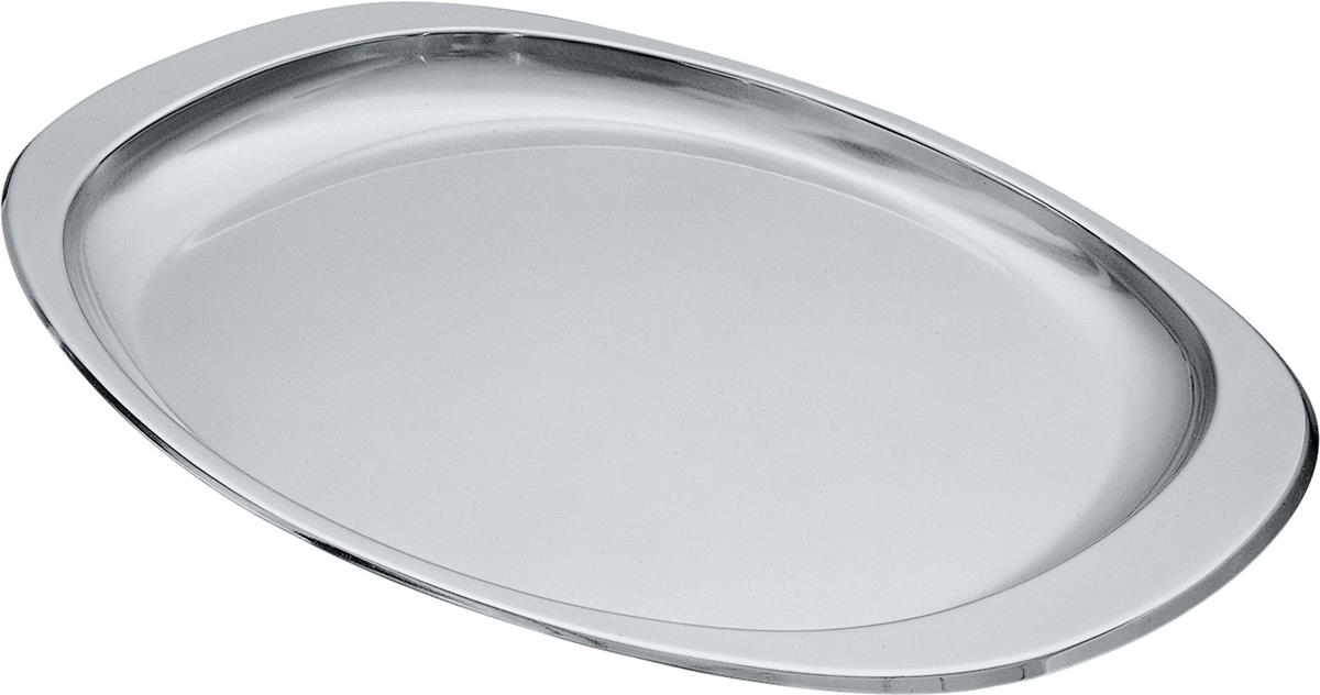 Alessi-Avio Tray in 18/10 stainless steel with polished edge