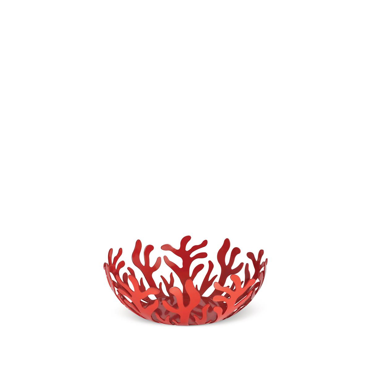 Alessi-Mediterraneo Fruit bowl in steel colored with epoxy resin, red