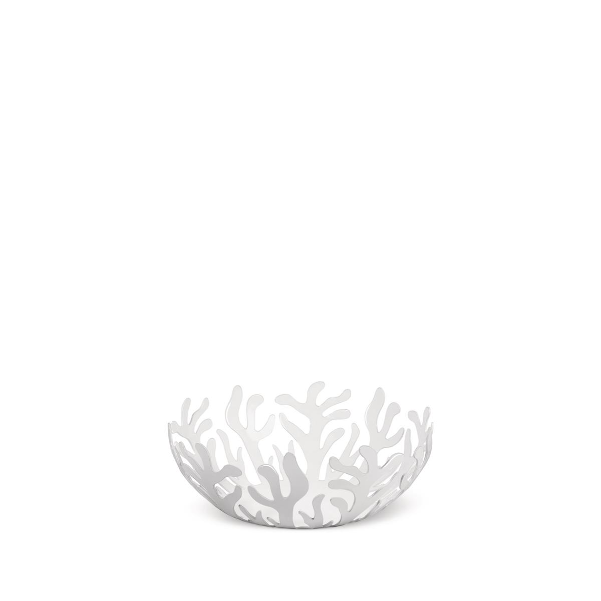 Alessi-Mediterraneo Fruit bowl in steel colored with epoxy resin, white