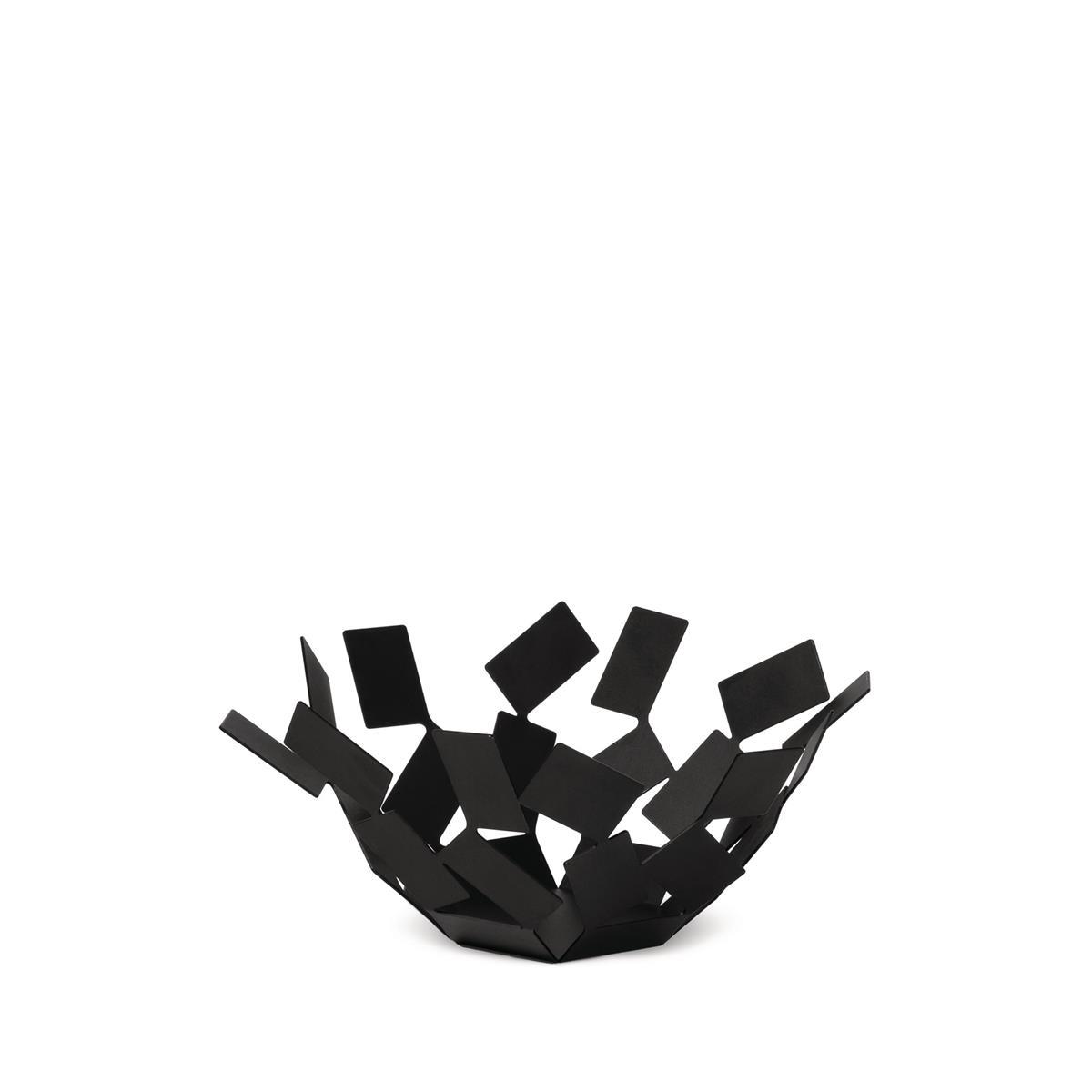Alessi-La Stanza dello Scirocco Fruit bowl in colored steel and resin, black
