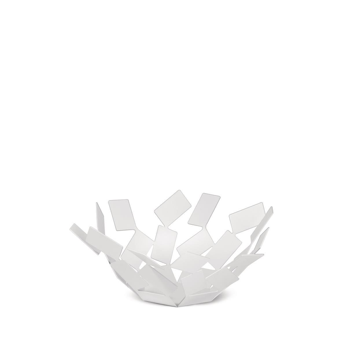 Alessi-La Stanza dello Scirocco Fruit bowl in colored steel and resin, white