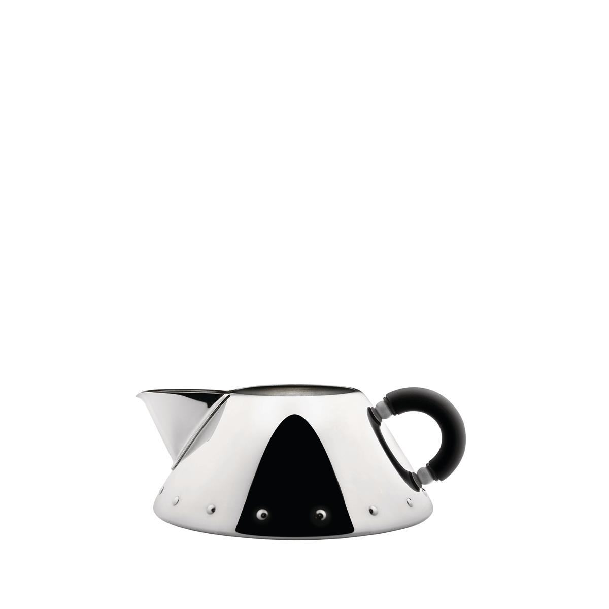 Alessi-Creamer in 18/10 stainless steel mirror polished with handle in PA, black