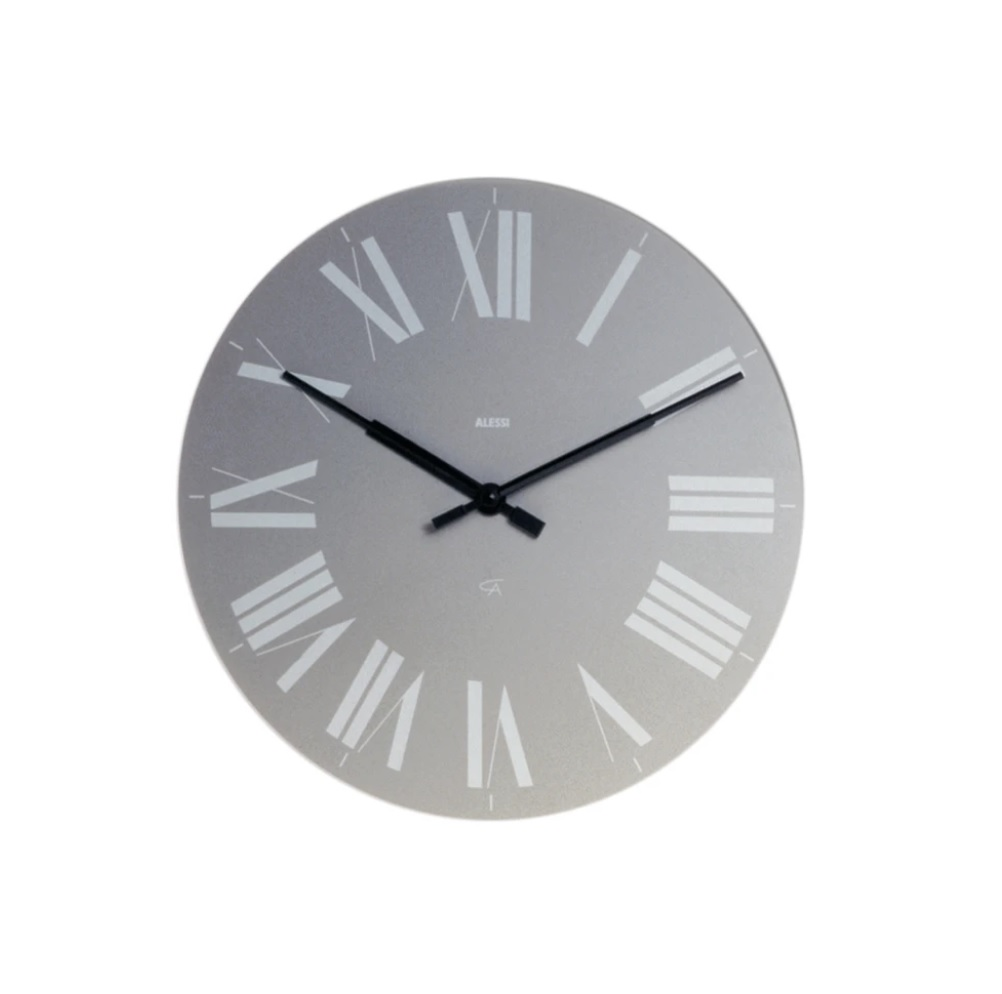 Alessi-Firenze Wall clock in ABS, gray Quartz movement