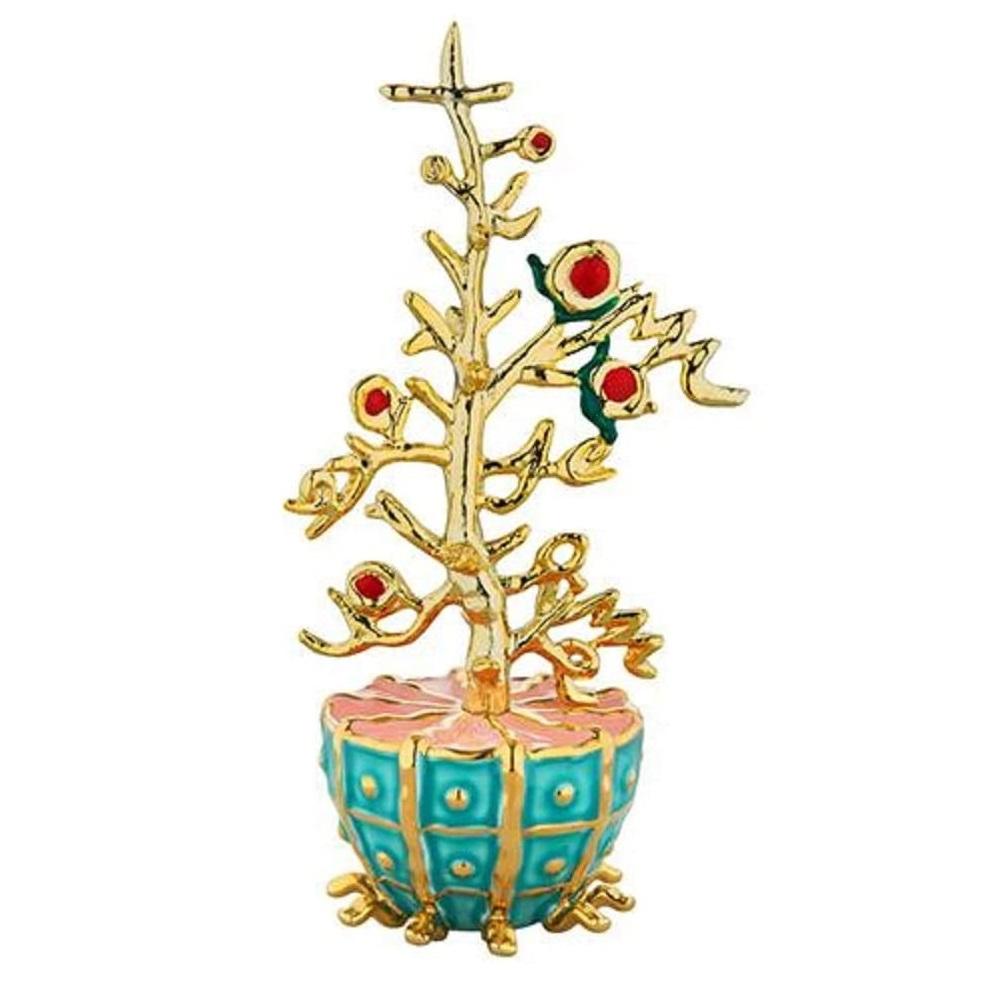 Alessi-L'Albero del Bene Dekoration aus Porzellan und vergoldetem Harz