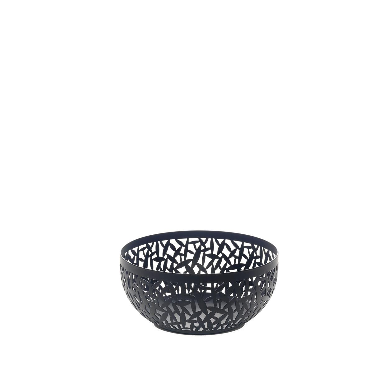 Alessi-CACTUS! Perforated fruit bowl in steel colored with resin, black