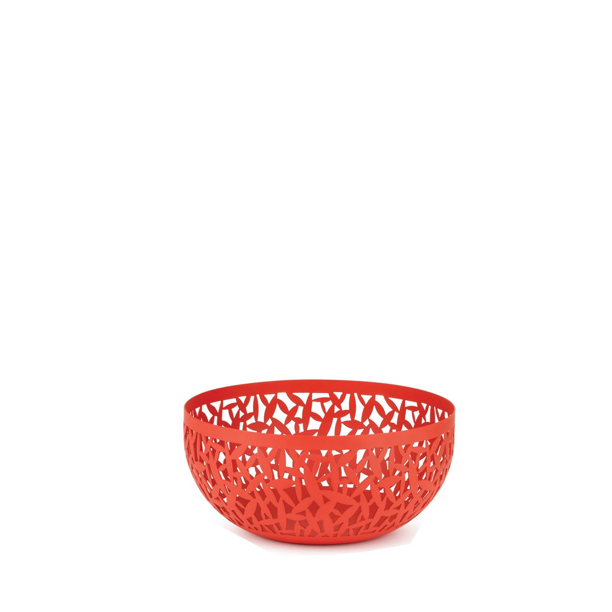 Alessi-CACTUS! Perforated fruit bowl in steel colored with resin, Super Red