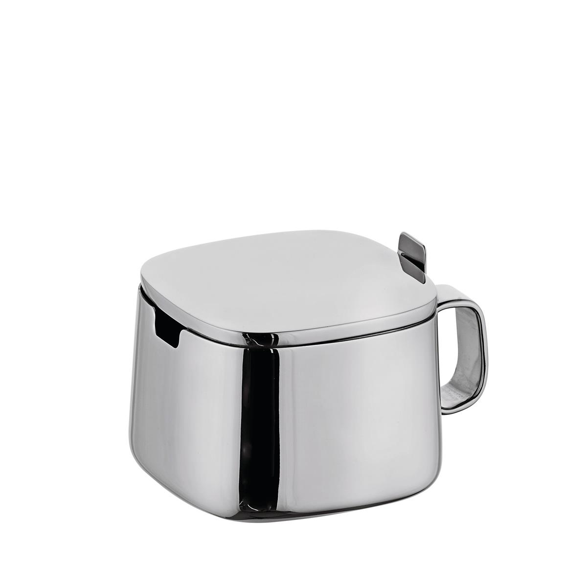 Alessi-Sugar bowl in 18/10 stainless steel mirror polished