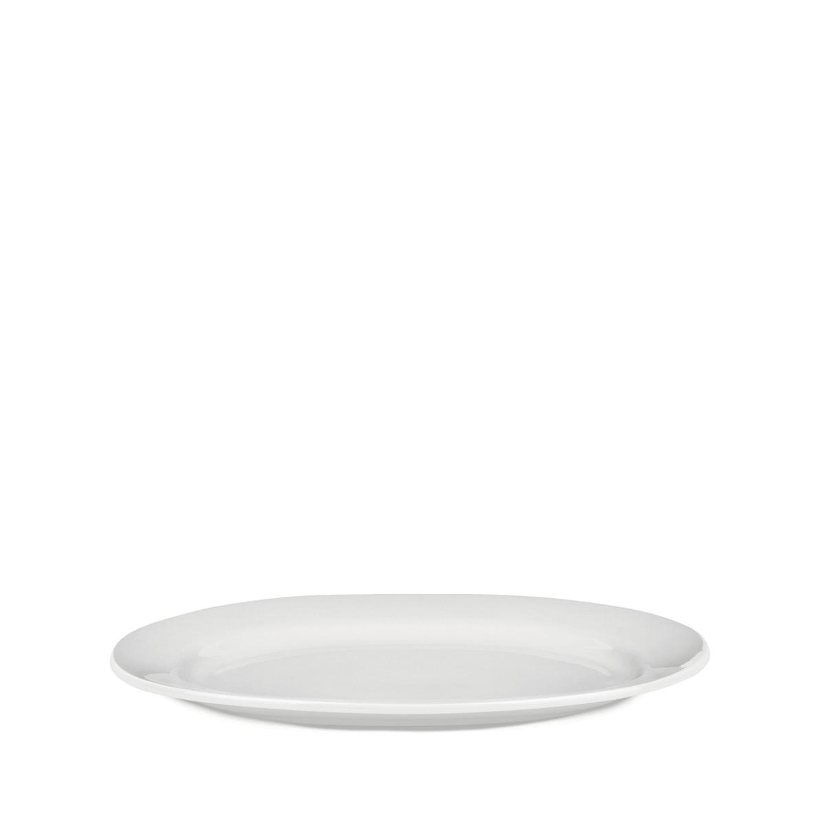 Alessi-PlateBowlCup Oval serving plate in white porcelain