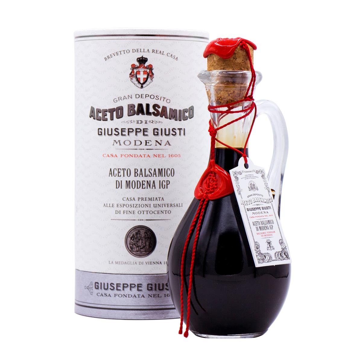 Aceto Balsamico di Modena IGP - 1 Medaglia d'Argento - Anforina Modenese in cappelliera da 250 ml
