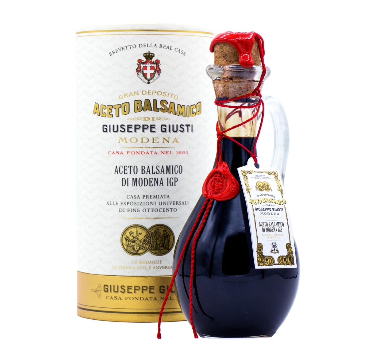 Aceto Balsamico di Modena IGP - 2 Medaglie d'Oro - Anforina Modenese in cappelliera da 250 ml