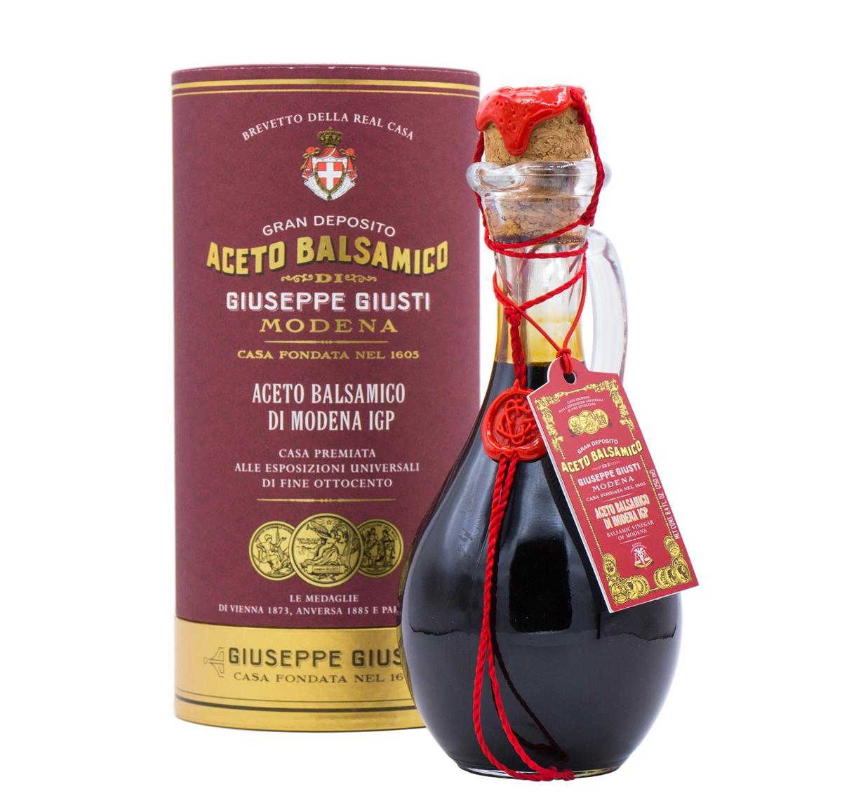 Aceto Balsamico di Modena IGP - 3 Medaglie d'Oro - Anforina Modenese in cappelliera da 250 ml