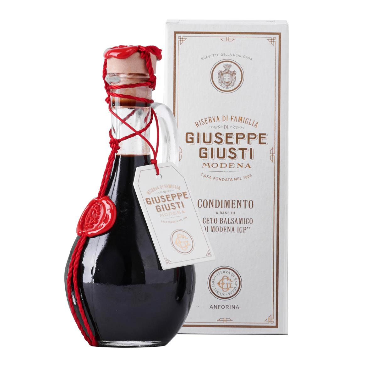 Balsamic Vinegar of Modena IGP - 2 Gold Medals - Anforina Modenese in a 250 ml hatbox